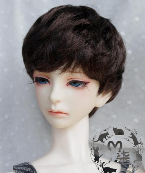 Новые 8-9 дюймов 9-10 дюймов 1/4 7-8 дюймов 1/6 6-7 дюймов 5 -6 дюймов 4-5 дюймов 3-4 дюймов имитация мохер коричневый, черный короткие волосы BJD кукла пари...