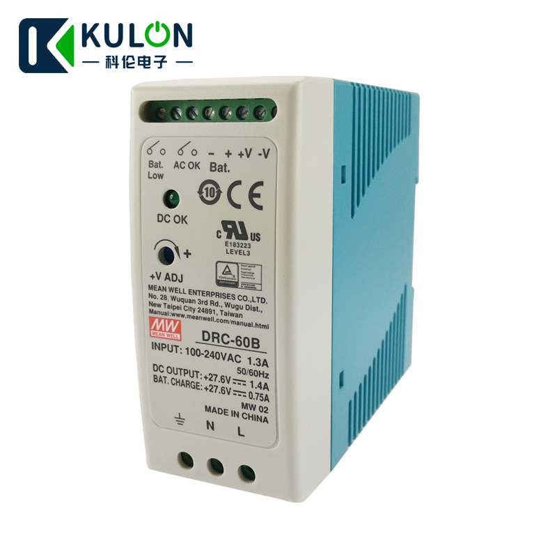 Original MEAN WELL DRC 60B 60W 24 30V AC DC meanwell din rail security Power Supply