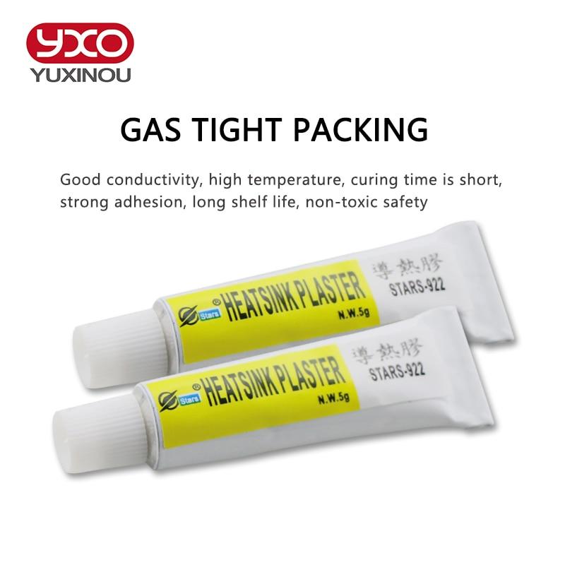 3pcsx5g Thermal Pads Conductive Heatsink Plaster Viscous Adhesive For Chip CPU GPU VGA RAM LED IC cooler led radiator cooling(China)
