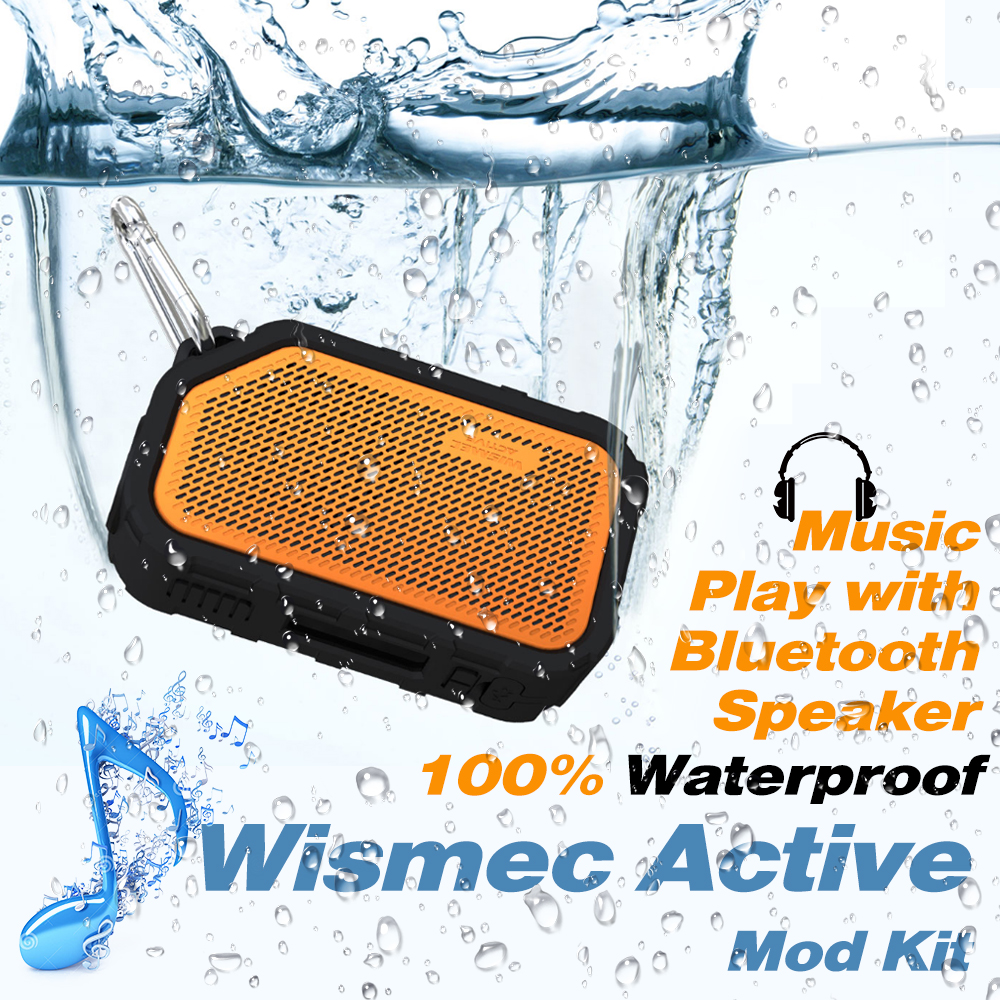 Boîte de vape d'origine Wismec Active Mod boîte 80 W avec haut-parleur Bluetooth étanche/antichoc boîte de Mod de cigarette électronique Vape