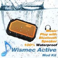 Original Wismec Active Mod Box 80W vape box with Bluetooth Speaker Waterproof/shockproof Electronic cigarette Vape Mod Box