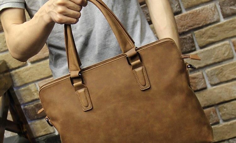 HTB1qwRZi2BNTKJjy1zdq6yScpXaK Brand Crazy horse pu leather men bags vintage business leather briefcase men's Briefcase men travel bags tote laptop bag man bag