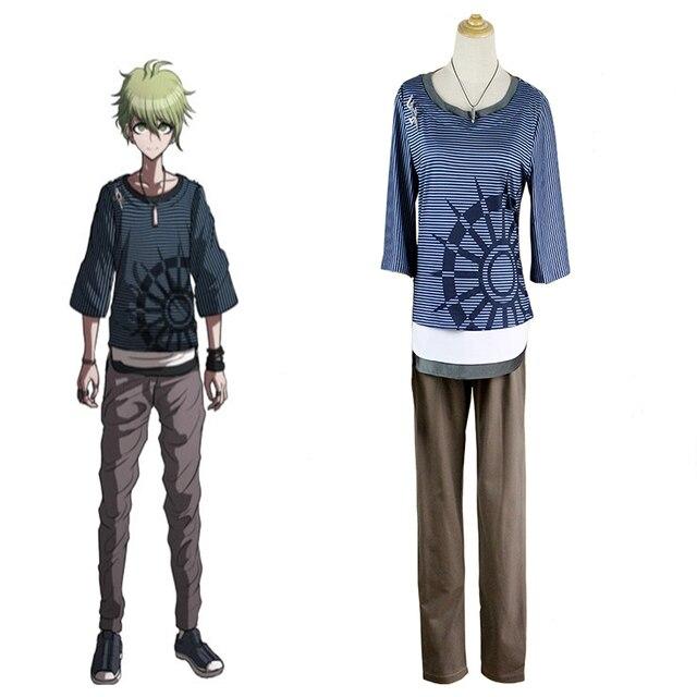 New Danganronpa V3 Rantaro Amami Cosplay Costume Halloween Uniform Outfit T  -shirt+Pants+ ce533b0b7a22