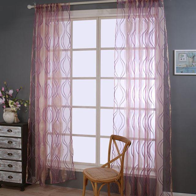 Moderne Sheer Garn Schlafzimmer Vorhang Stoff Wohnzimmer Vorhang ...