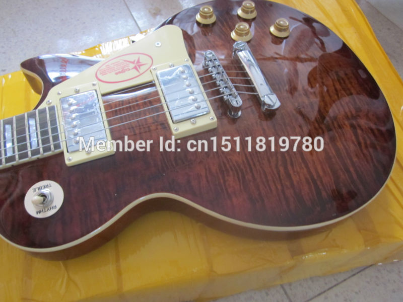 Electric guitar Wholesale new gib standard/slash guitar/oem lp guitar with maple flame top/guitar in china цены онлайн