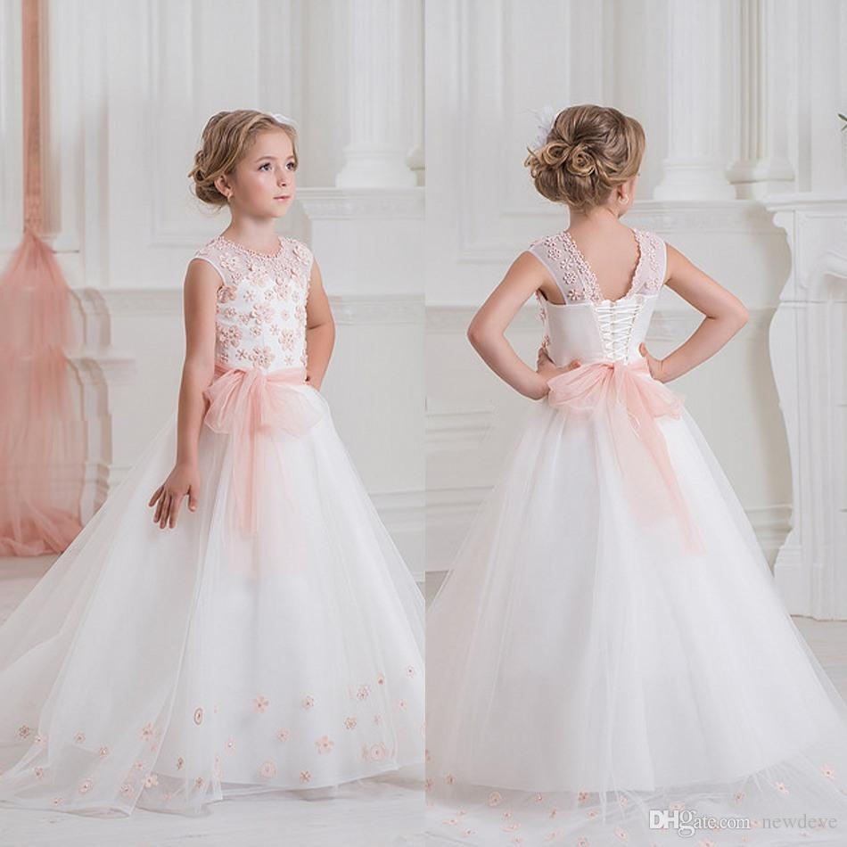 Toddler 3d floral lace applique flower girls dresses 2017 cheap toddler 3d floral lace applique flower girls dresses 2017 cheap first communion dress floor length kids girl pageant gown in flower girl dresses from izmirmasajfo