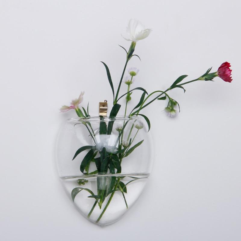 Christmas Glass Wall Vase Terrarium Vases Flower Pots Wall Glass