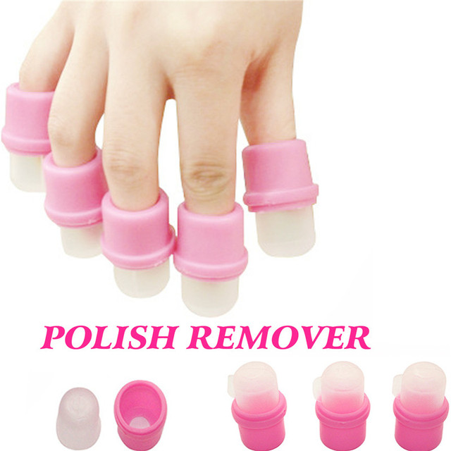 10Pcs Nail Gel Polish Remover Perfect Nail Gel Soak Off Tools Soaker ...