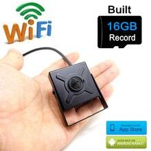 ip camera wifi 720p mini wireless micro sd card 16G home smallest cam hd cctv security surveillance p2p wi fi camara JIENU