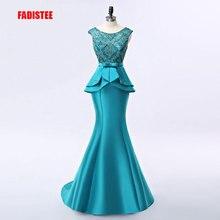 FADISTEE Nuovo arrivo elegante vestito da sera lungo abiti del partito vestido de noiva appliques formali di cristallo stile lungo