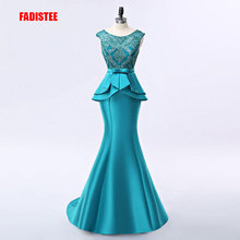 FADISTEE وصول جديد أنيق فستان طويل فساتين السهرة حفلة vestido de noiva الرسمية يزين الكريستال نمط طويل
