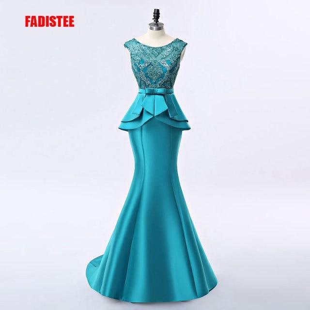 FADISTEE yeni varış zarif uzun elbise abiye parti vestido de noiva resmi aplikler kristal uzun tarzı