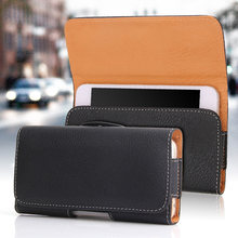 Universal Vintage Belt Clip Phone Bag For iPhone For Xiaomi Redmi note 7 6 5 pro 6A 5 Plus Case Waist Bag Holster 4.7 - 6.3 inch(China)
