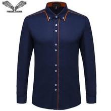 Visada jauna Европейский Размеры Для мужчин рубашка Новинка 2017 года 100% хлопок тонкий Бизнес Повседневное брендовая одежда с длинными рукавами CHEMISE Homme N356