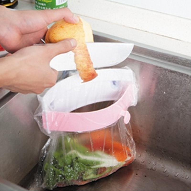 strong three sucker kitchen sink garbage bag holder clip on deodorant creative garbage bag