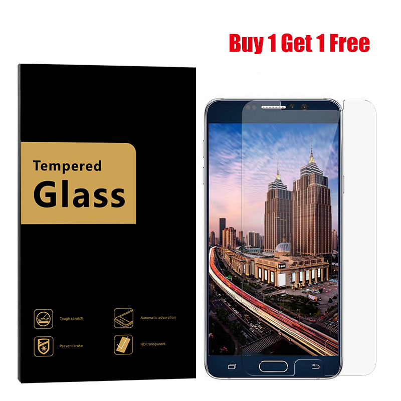 [Buy 1 Get 1 Free] Tempered Glass For Samsung Galaxy Note 2 3 note 4 5 S3 S4 S5 S6 Screen Protector Glass Protective Film image