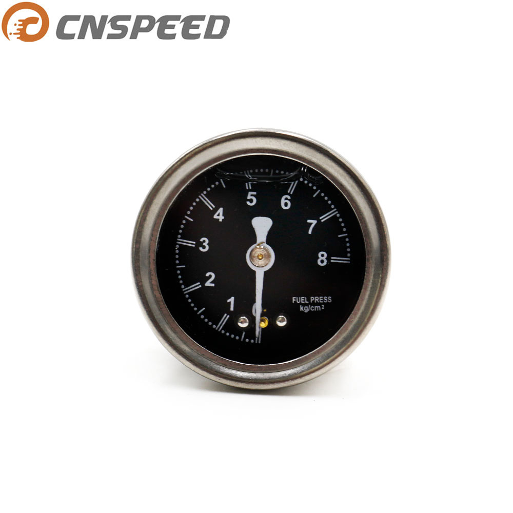 CNSPEED 燃料圧力レギュレータゲージとポインター 0 〜 8 黒顔 YC100491