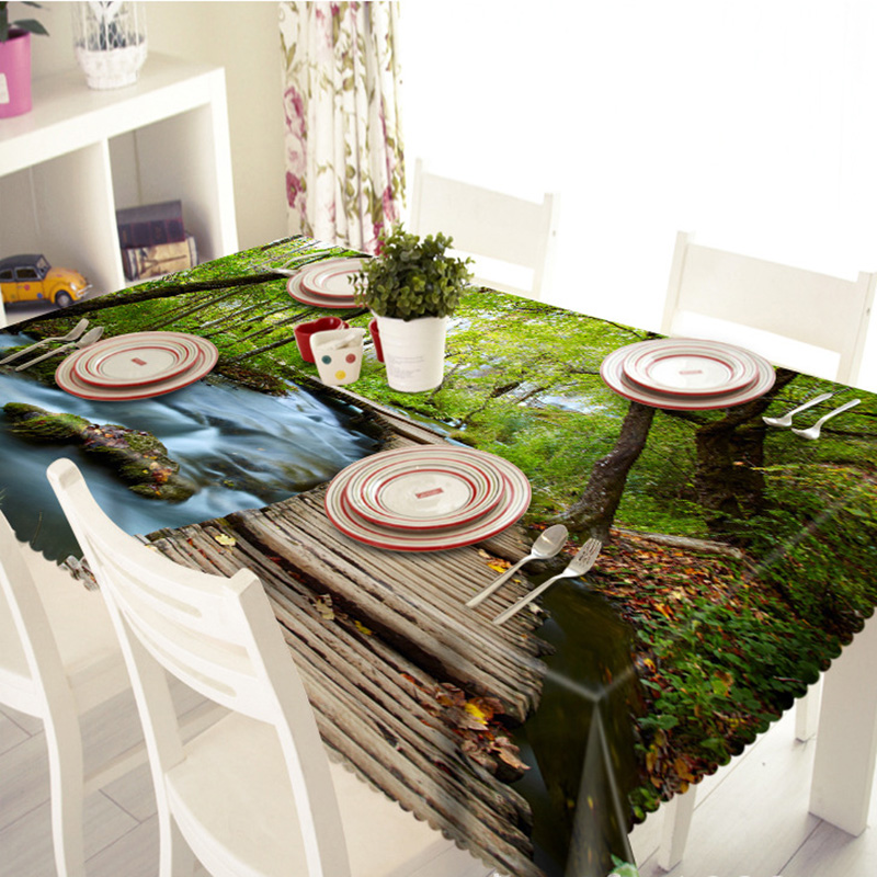 3D Printed Table Cover Beaurtiful Scenery Printed Customizable Table Cloth Nature  Home Decor Dining Table Set Toalha De Mesa In Tablecloths From Home ...