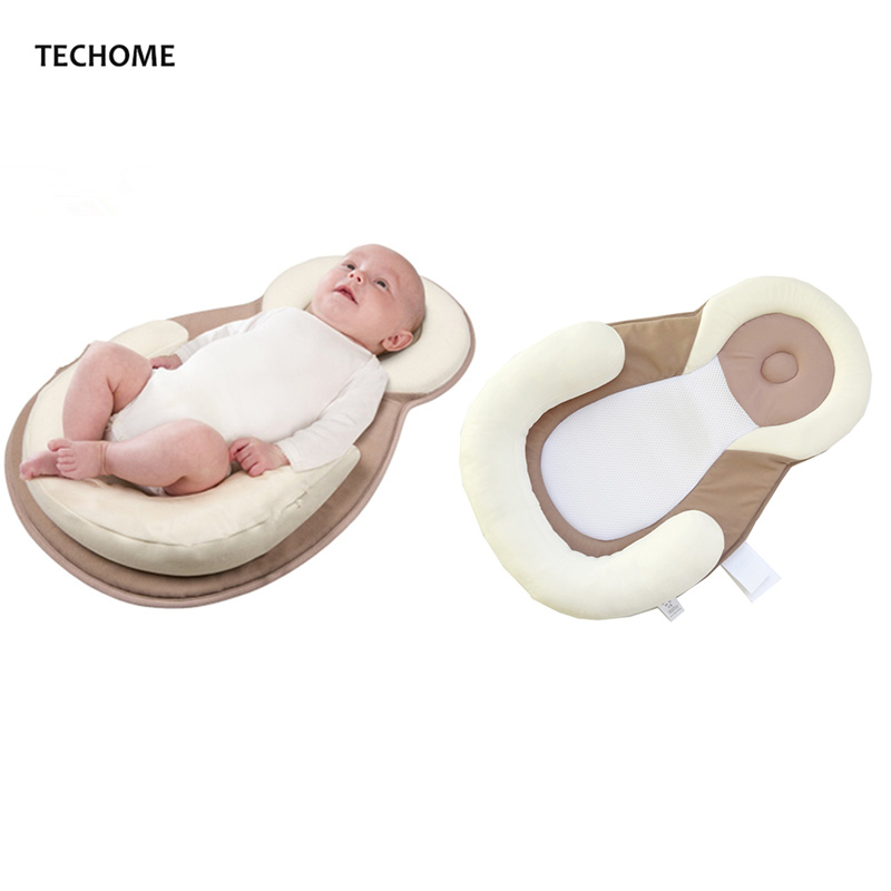 Baby Stereotypes Pillow Infant Newborn Anti-rollover Mattress Pillow For 0-12 Months Baby Sleep Positioning Pad Cotton Pillow
