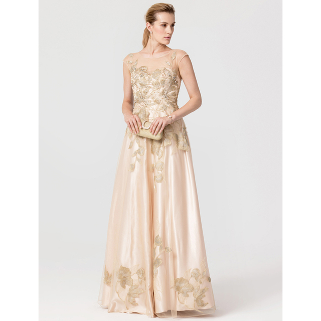 Ts Couture Princess Jewel Neck Floor Length Tulle Stretch Satin Formal Evening Dress With Liques Crystal