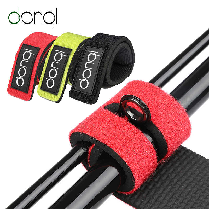 2x Reusable Fishing Rod Ties Holder Straps Tackle Band Belt Fixing Fastener Wrap