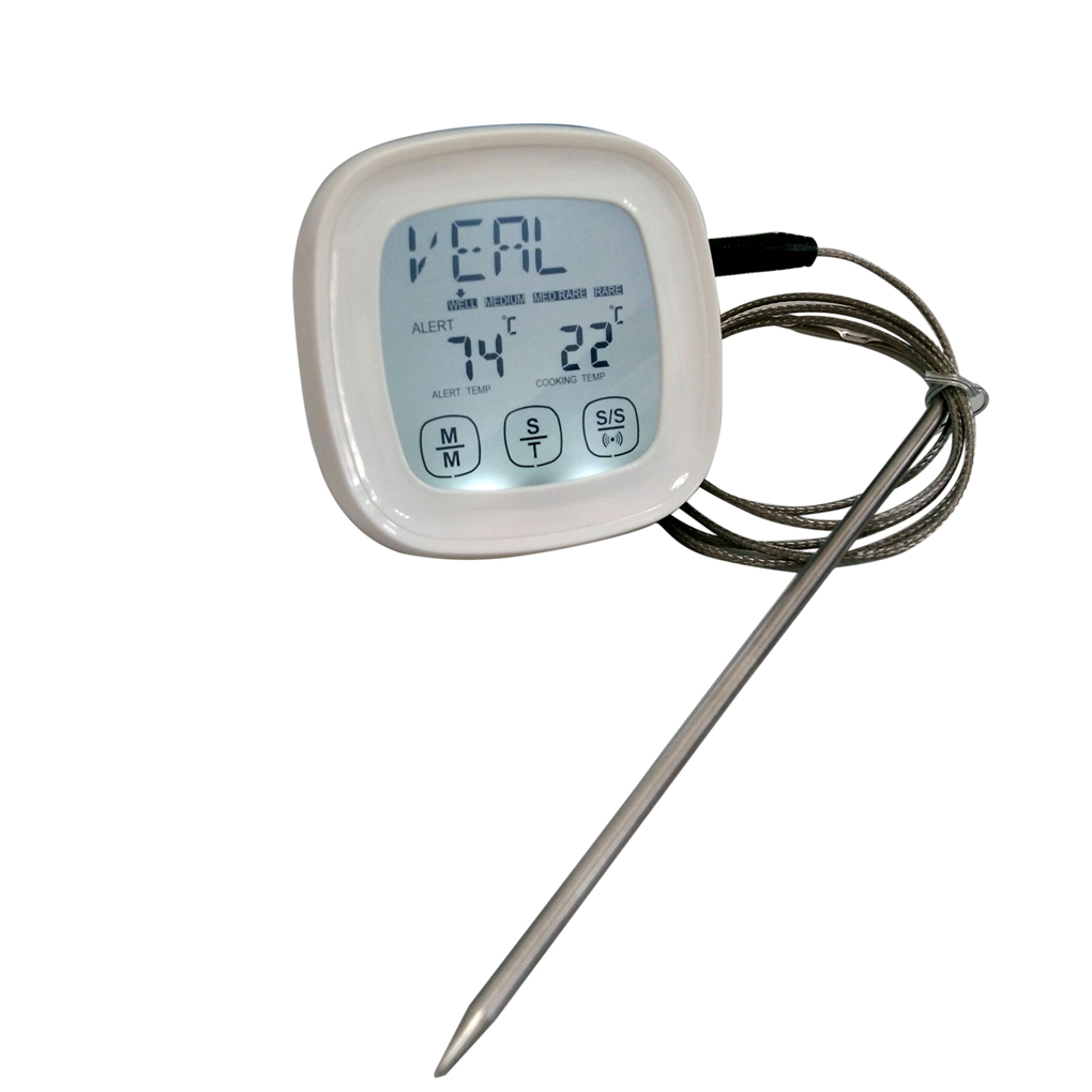 Steel Read Touch with Thermometer Cooking Instant Probe Screen Barbecue Stainless