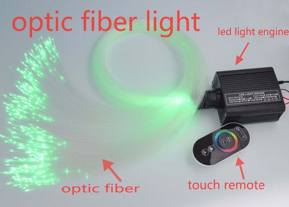 16W LED PMMA Fiber 0ptic Star Ceiling Lighting Kit 0.75mm(150pcs*2m)+1mm(50pcs*2m) + RGB ...