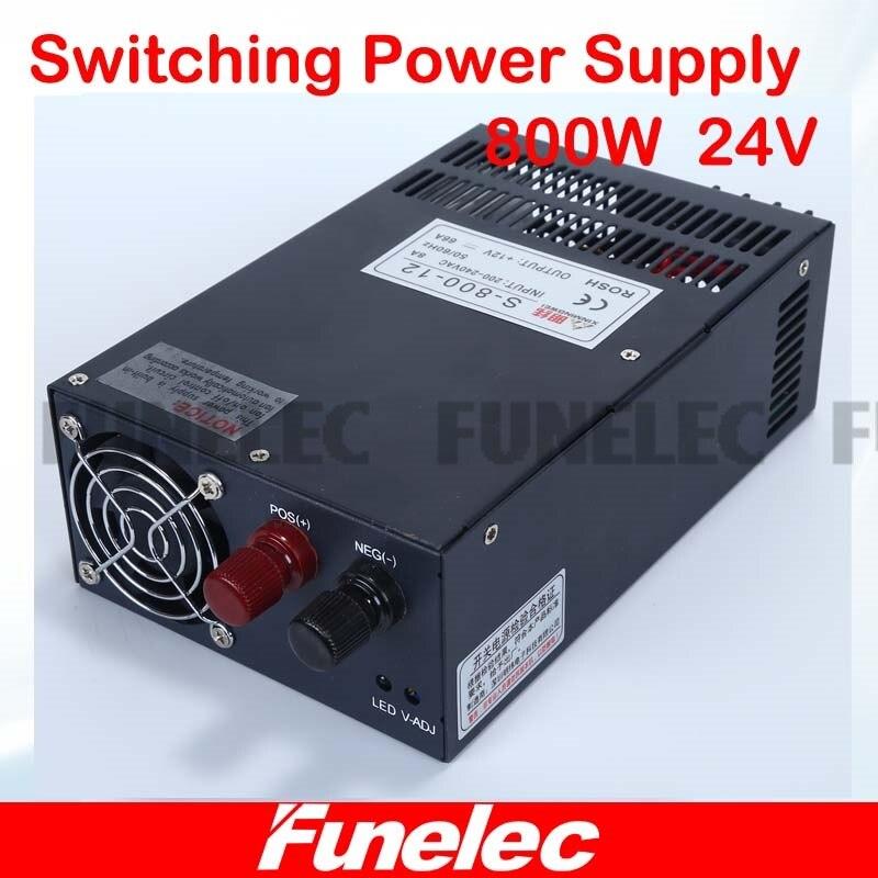 New design regulated power supply 24v dc for LED Strip light CNC 3D Print transformer 220v 110v AC to dc 33A 800W block power