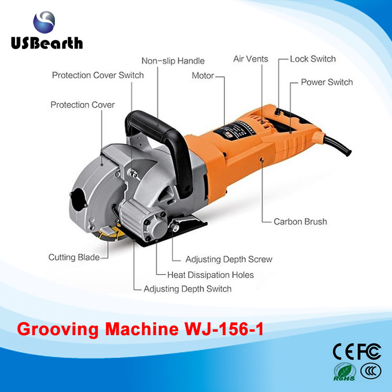 WJ-156-1 Multifunction Wall Groove Cutting Machine Wall Groove Machine Wall   Chaser Machine For Brick & Granite Marble & Concre spiner golden cupid snitch harry potter fans fidget spinner r188 metal finger spinner hand spiners anti relieve stress kids toys