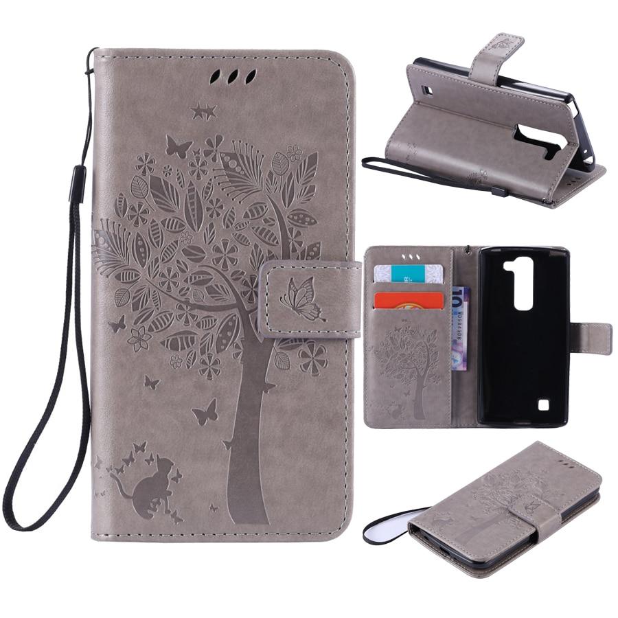 Portefeuille Aimant Flip Couverture En Cuir Cas 5.0For LG Magna/G4 mini cas Pour fundas LG Magna H502f H500F C90 G4C Coque 3D Motif