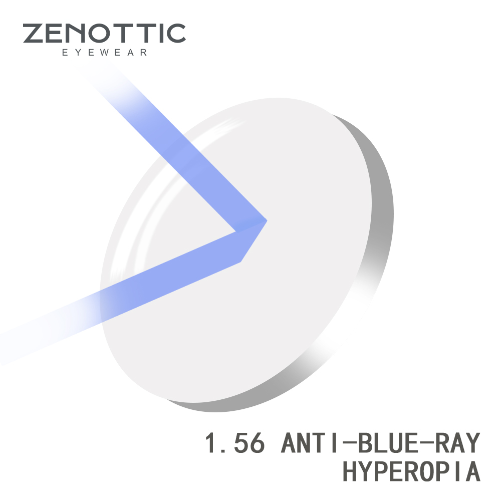 ZENOTTIC Prescription Anti Blue Ray Lens 1.56 1.61 1.67 (+12.00~-12.00) Hyperopia Myopia Presbyopia Optical Lenses