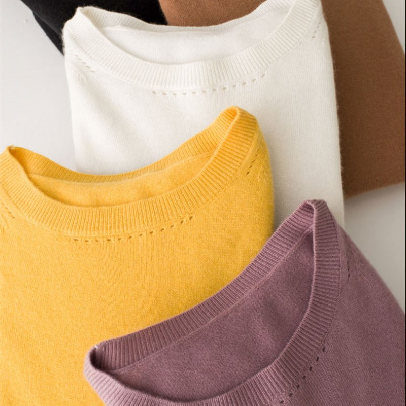 MERRILAMB High Quality Cashmere Sweaters Women s Spring Autumn Solid Color Round Neck Cashmere Knit Casual