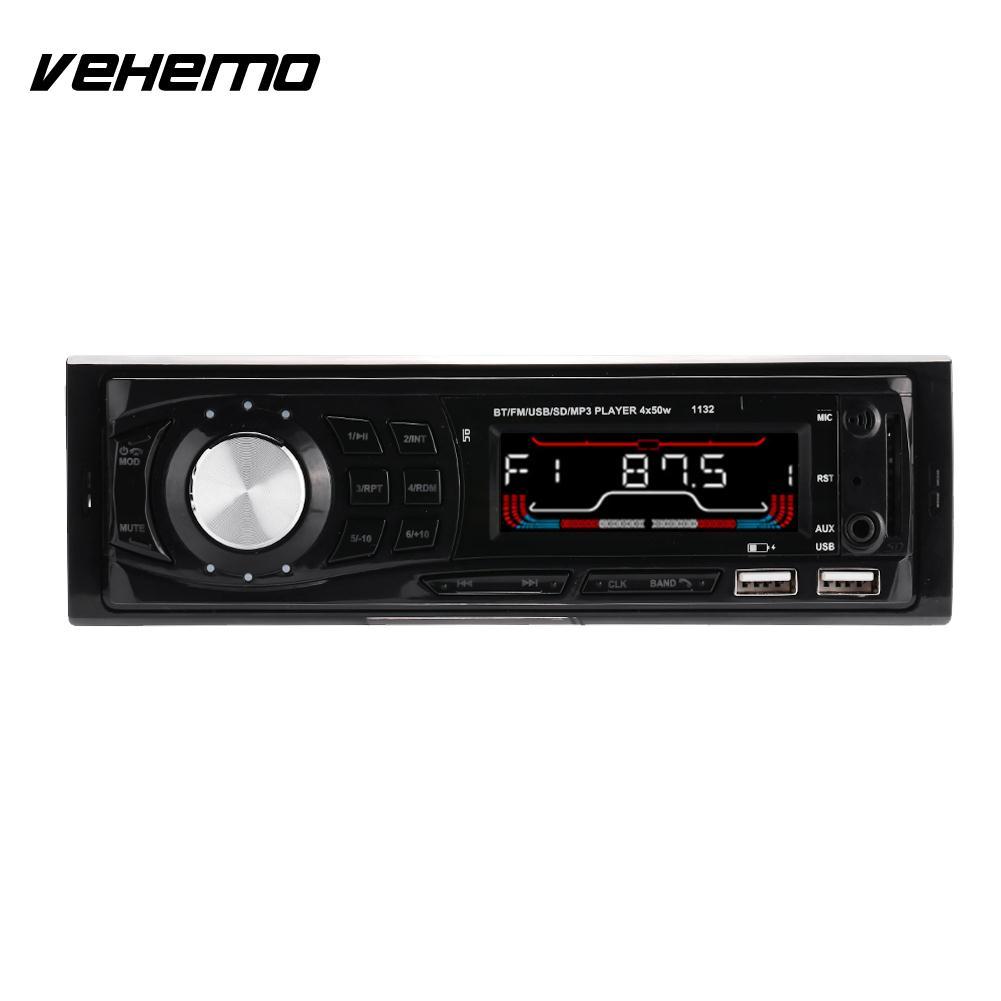 Vehemo DC 12 30V 2 USB Car MP3 Bluetooth Car MP3 Player Auto Audio Premium Smart Stereo 4*60W