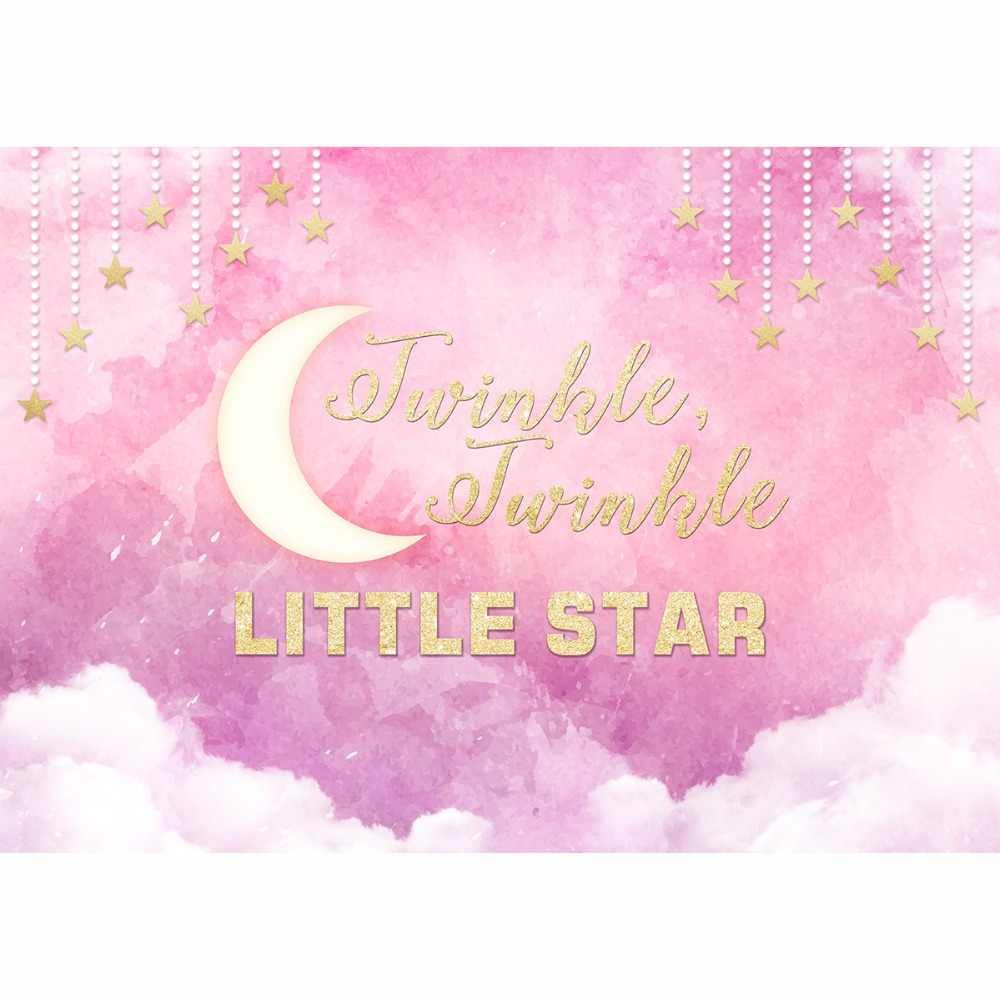 Allenjoy Fotografia Sfondo Rosa Twinkle Twinkle Little Star