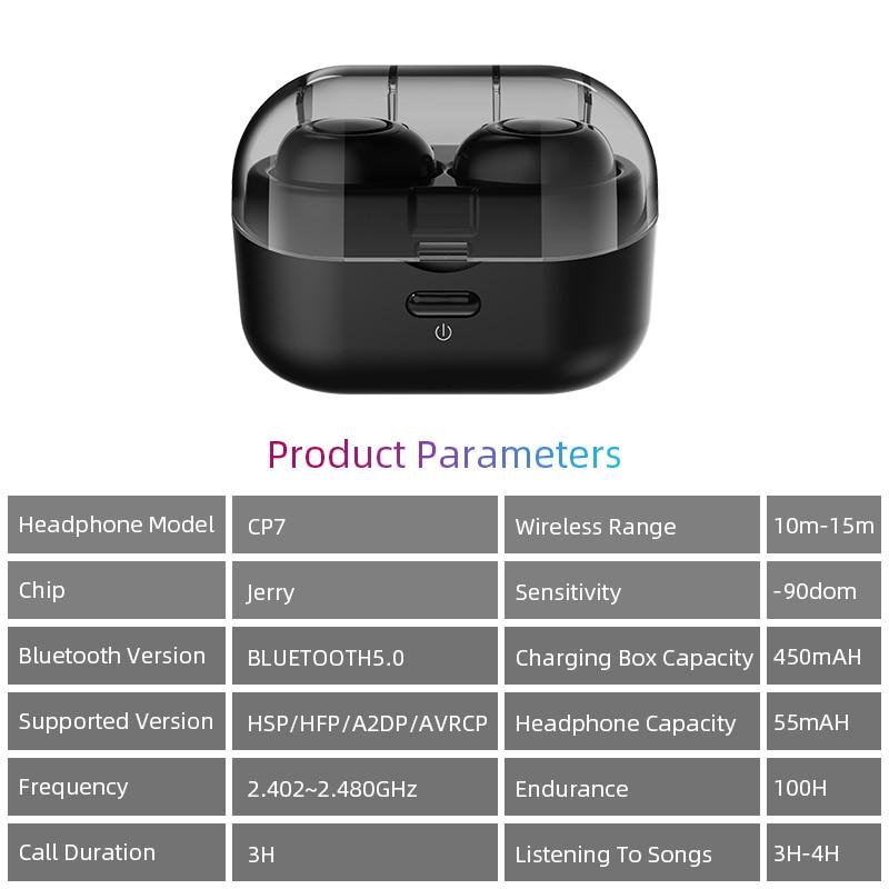 Capsule TWS Wireless Earbuds V5.0 Bluetooth Earphone With Deep Bass 17