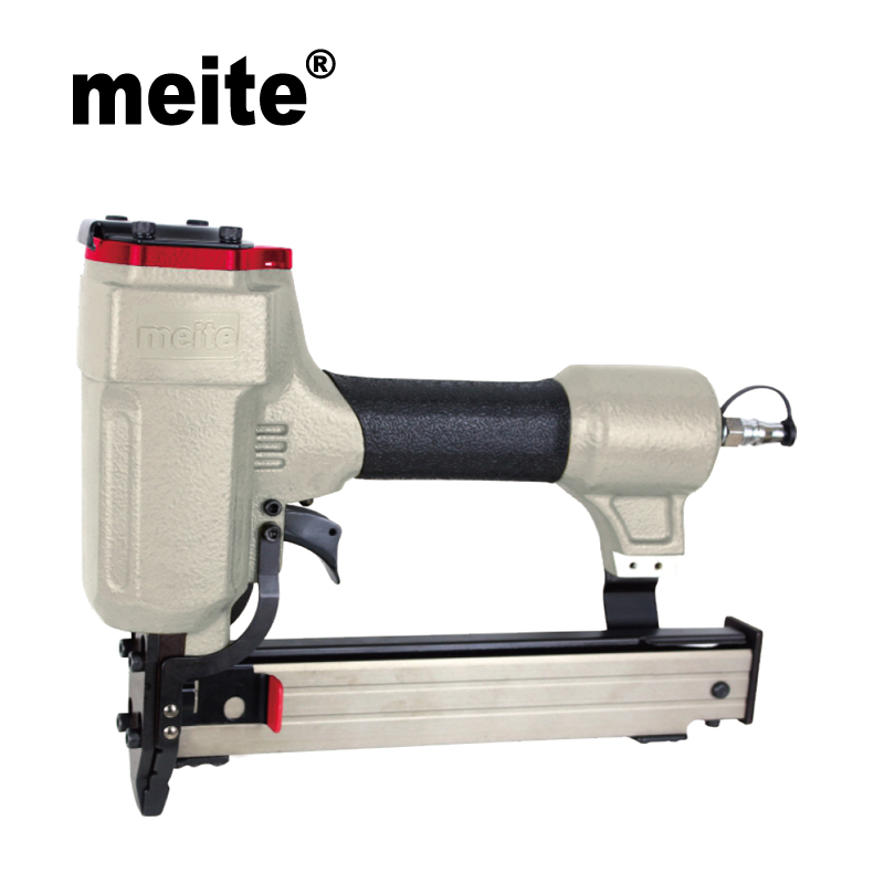 Meite 9240B 5/16 8.85MM CROWN 18Gauge medium wire stapler pneumatic stapler gun professional for Cabinets Mar.22 Update tool