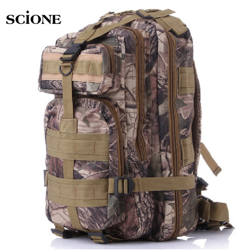 Scione Outdoor Sport 3P Tactical Backpacks Army Green Military Camouflage Backpack Men Mountaineering Rucksack Mochila XA16YL camouflage hydration pack multifunctional outdoor package mountaineering bags military tactical backpack cycling rucksack