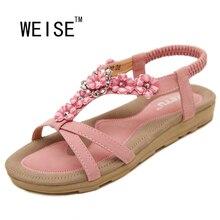 summer women sandals 2017 gladiator sandals women shoes Bohemia flat shoes sandalias mujer ladies shoes new flip flops W975-99