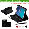 Slim Fit PU Leather Keyboard Portfolio ABS DETACHABLE Bluetooth Keyboard Stand Case Cover for Samsung Galaxy Tab E 9.6'' Tablet