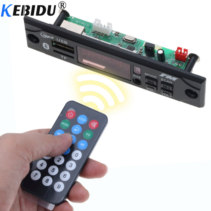 Diszipliniert Kebidu Mp3 Player Decoder Board Modul Drahtlose Bluetooth Audio Auto Mp3 Wma Wav Aux 3,5mm 12 V Usb Tf Fm Decoder Board Für Auto Unterhaltungselektronik Tragbares Audio & Video