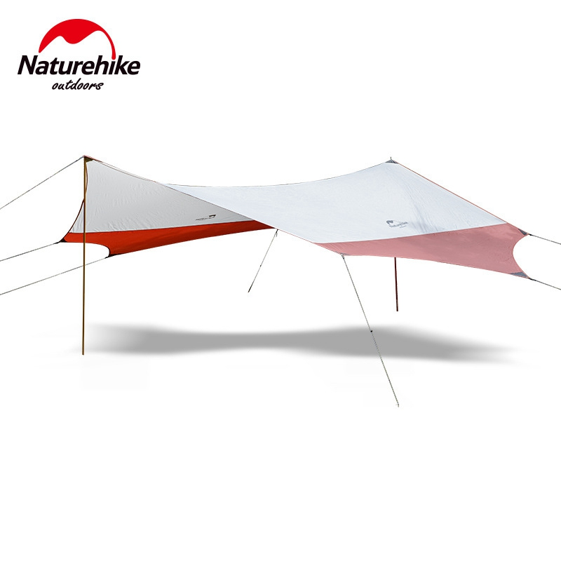 Naturehike Hexagon Sun Shelter With Poles UV 40+ Beach Tent Shade Tarp Pergola Camping Sunshade gazebo Waterproof Awning Canopy large outdoor camping pergola beach party sun awning tent folding waterproof 8 person gazebo canopy camping equipment