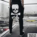 New men's fashion Haren pants fashion men's skeleton head printing trousers hip hop