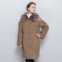 arlene sain custom women The new women's wear fur type cocoon easing integration fur coat in long sheep velvet coat free shippin
