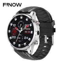 Finow x7 4g smartwatch 1.39 polegada amoled 400*400 display gps/glonass quad core 16 gb 600 mah híbrido pulseira de couro relógio inteligente|Relógios inteligentes| |  -