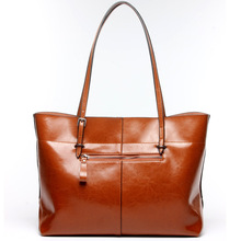 Top cowhide leather oil waxing women s bag genuine leather handbag Vertical bag Horizontal bags Luxury