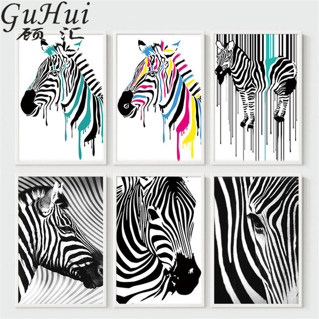 Personality multicolour zebra canvas decorative painting modern personality multicolour zebra canvas decorative painting modern abstract animal zebra head poster quadros de parede para altavistaventures Image collections