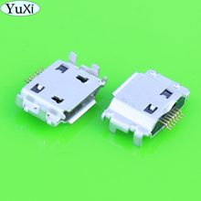 YuXi Micro USB Jack Connector Female 7 pin Charging Socket For samsung I9000 S8000 S5630C S5620 S5660 I8910 I9003 I9008 I9020(China)