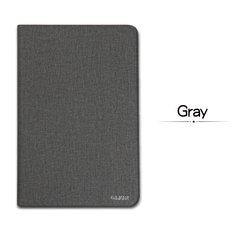 Gray Red QIJUN For iPad 10 2inch 2019 Flip Tablet Cases Fundas For iPad 7th 2019 10 2