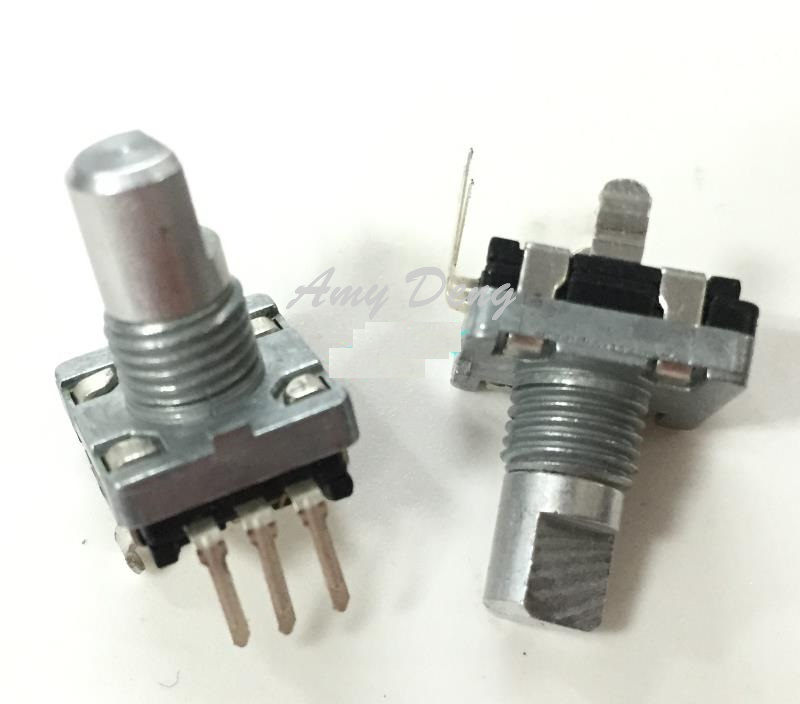 20 teile/los Taiwan EC11 geber 20 nummer 20 puls posioning achse länge 12 MM ohne drücken der switch <font><b>pin</b></font> <font><b>3</b></font> image