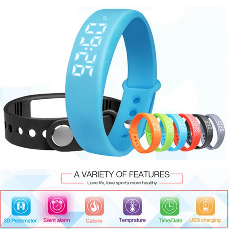 Smart Wristband W5 3D Real Time Temperature Display Pedometer Sleep Monitor Fitn
